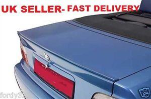 BMW E36 CONVERTIBLE CABRIOLET M3 Style 1990-2000 BOOT LIP SPOILER-UK SELLER!!