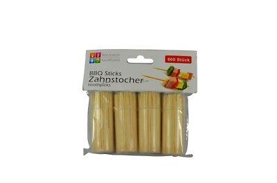 2 x 600 Stück Zahnstocher - 8 Dosen á 150 Stück - BBQ Spieße Snack Spieße