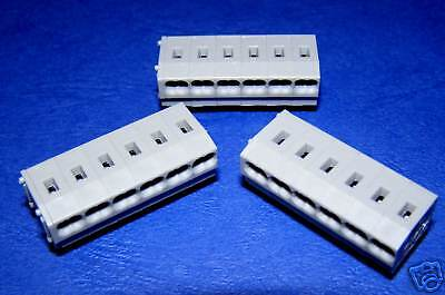 Screwless Push Wire Terminal Block 6 Way ......Lot of 3