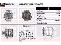 Alternator DRA0214 Delco Remy DA1324 PEUGEOT, MINI, CITROEN,VARIOUS