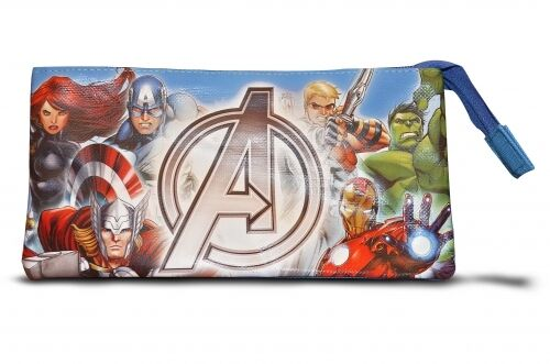 Avengers Assemble 3 Pocket Pencil Case Stationery Brand New Gift