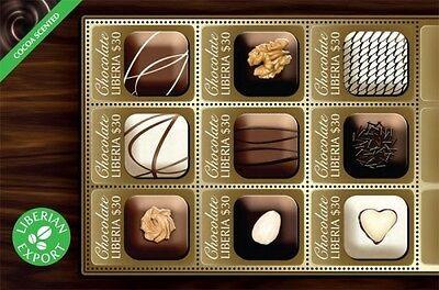 Liberia- 2011 Chocolate Delicacies Stamp Sheet of 9
