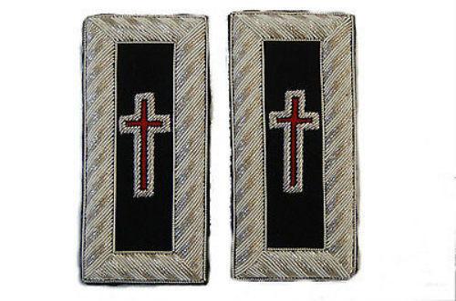 Masonic Knights Templar Knight Lodge Uniform Patch Straps Boards Rosy Cross KT 3