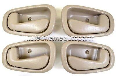 for Toyota Inside Interior Door Handle Front Rear Driver Passenger Beige Tan Set
