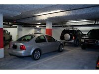 Secure underground parking space with keys