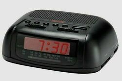 Sunbeam Hospitality 89014 AM/FM Alarm Clock Radio, BLACK