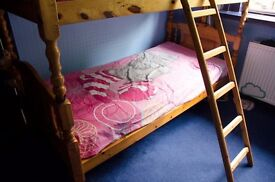 Solid pine bunk beds, sturdy and well built, £80
