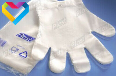 100 x Plastic GLOVES Disposable PREMIUM POLYTHENE Catering Food Mechanics Car