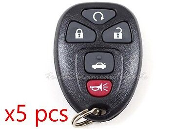 5 Button Keyless Entry Remote Fob Programming Instructions Included Set of 5