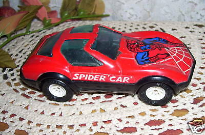 Vintage Spiderman Car by Buddy L Made in Japan Has Spider and Web Design