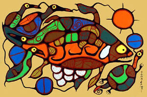 Norval-Morrisseau-giclee-print-on-canvas