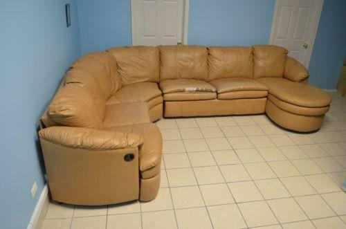 Living room furniture leather sectional ebay for Ebay living room chairs