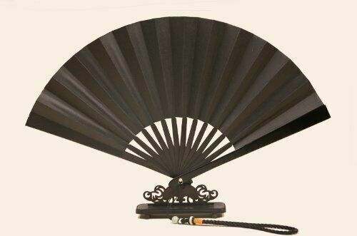 Tessen Japanese Iron Fan Samurai Weapon 24 cm Black Protection Stainless Japan