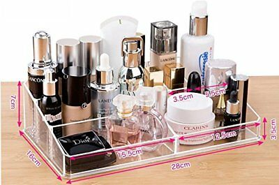 9 Compartments Cq Acrylic Durable Cosmetic And Makeup Tray Storage Organizer New