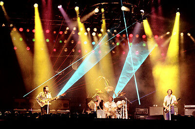 """12""""*8"""" concert photo of The Who, playing at Wembley in 1979"""