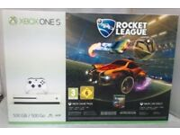 **SEALED** XBOX ONE S & ROCKET LEAGUE GAME & 1 MONTH GAME PASS & 3 MONTHS XBOX LIVE GOLD, BRAND NEW