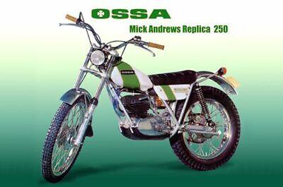 OSSA MICK ANDREWS 250cc GAS TANK + SIDE PANELS BODY KIT OSSA MICK ANDREWS 250