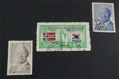 nystamps Korea Stamp # 162//228 Used $72  L23y534