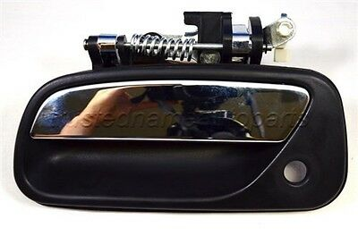 fits Toyota T100 Outside Exterior Door Handle Front Driver Black Chrome Lever
