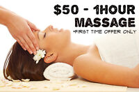 $50 -1 Hour Massage (Brentwood Mall)