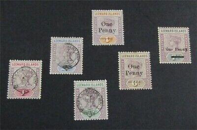nystamps British Leeward Islands Stamp # 9//19 Mint OG H $48   L23x1930