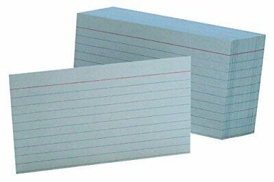 Ruled Color Index Cards 3 X 5 Blue 100 Per Pack 7321 Blu