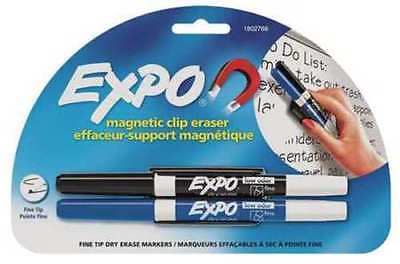 Expo Magnetic Clip Dry Erase Markers Set Of 2 Fine Blackblue Back To School