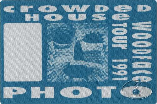 CROWDED HOUSE 1991 Backstage Pass Split Enz Neil Finn Photo Blue