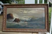 Antique Oil Painting Seascape