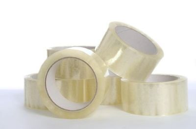 12 Pack of Clear Packing Selotape Tape 48mm x 66m Rolls Parcel Wide Strong New