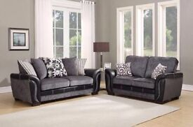 Sale Milano Black Leather Recliner Sofas In