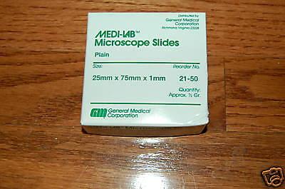 Blank Microscope 72 Slides Cover Glass Slips Plain