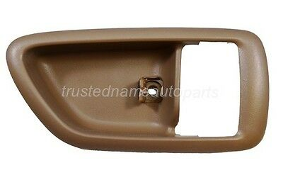 fits Toyota Inside Interior Door Handle Trim Front Rear Passenger Oak Brown for sale  South El Monte