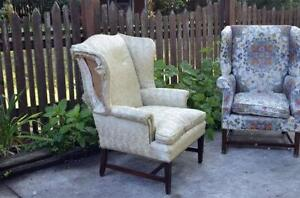 High Quality Vintage Wingback Chairs