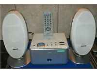 Sony hi-fi with remote and two speakers for sale - excellent condition