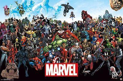 MARVEL SUPERHEROES - LINEUP POSTER - 22x34 COMICS AVENGERS 14133