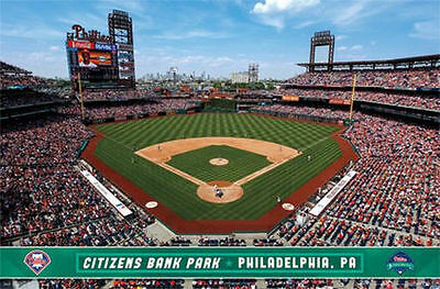 Philadelphia Phillies   Citizens Bank Park Poster   22X34 Baseball Stadium 13256