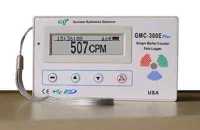 New GQ GMC-300E Plus Nuclear Radiation Detector Data logger Beta Gamma detection