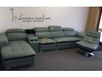 Corner Sofa/Unit Euro/american suite **REAL Italian leather**NXT DAY DELIVERY