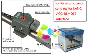 Pro-Libec-ZC-3DV-Zoom-Control-For-Panasonic-canon-sony-etc-DV-LANC-ACC-REMOTE