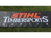 Stihl Timbersports sign/banner