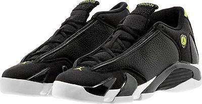 2016 Nike Air Jordan 14 Retro Indiglo Og Gs Sz 7Y Black Vivid Green 487524 005
