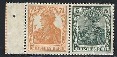 D.Reich Zusammendruck W 6 ab postfrisch / ** (44960)
