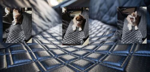 Luxury Microfiber PU Leather Dog Pet Car Seat Cover Hammock Waterproof Side Flap