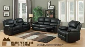Black Recliner Sofa Set - Living Room Furniture MA10 9885BLK-1G (BD-1306)