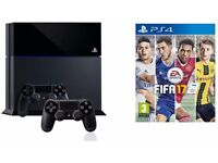 Playstation 4, 2 Controllers and Fifa 17