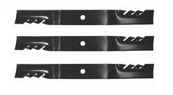 3 Mulching Blades for 48 John Deere GY20852 X140, D140, D150, D160