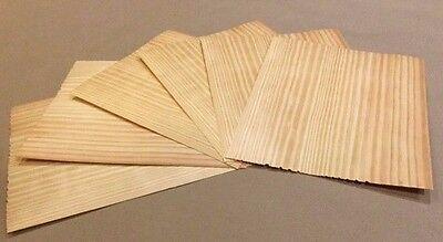 Vertical Grain Pine Wood Veneer Rawunbacked - Pk Of 6 9 X 9 Sheets 3 Sq Ft