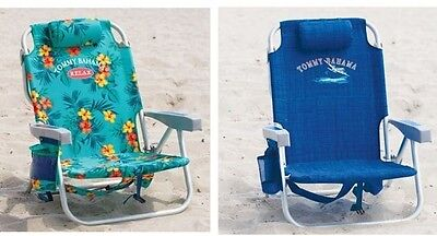 1 Flower 1 Blue Tommy Bahama Backpack Cooler Beach Chair New |NO SALES TAX|
