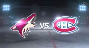 Paire billets Canadiens Vs Coyotes Arizona